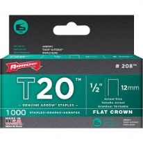 Arrow T20 Staples - 12mm (1000)